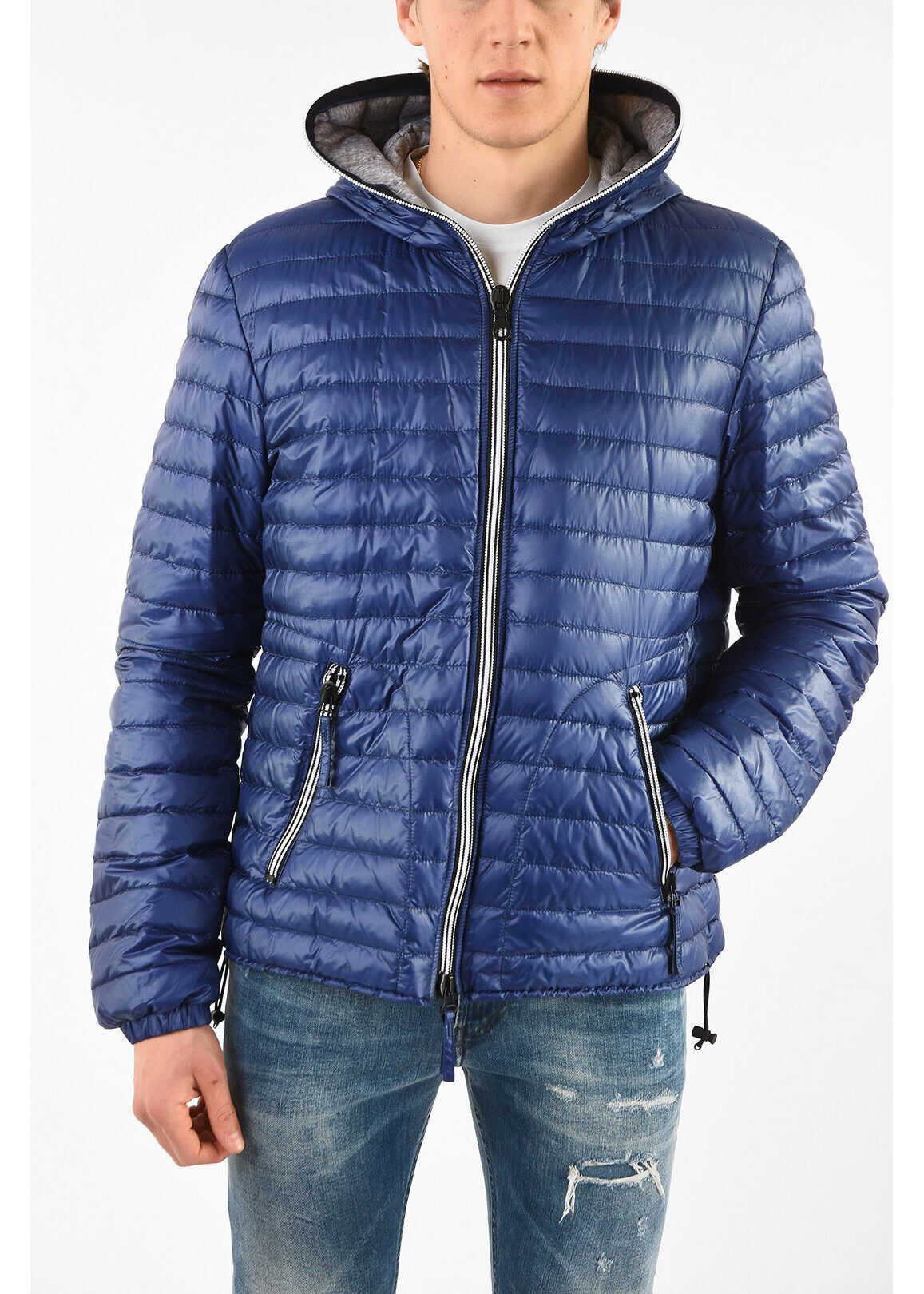 Duvetica Lightweight ACELO Down Jacket with Zip Closure BLUE imagine