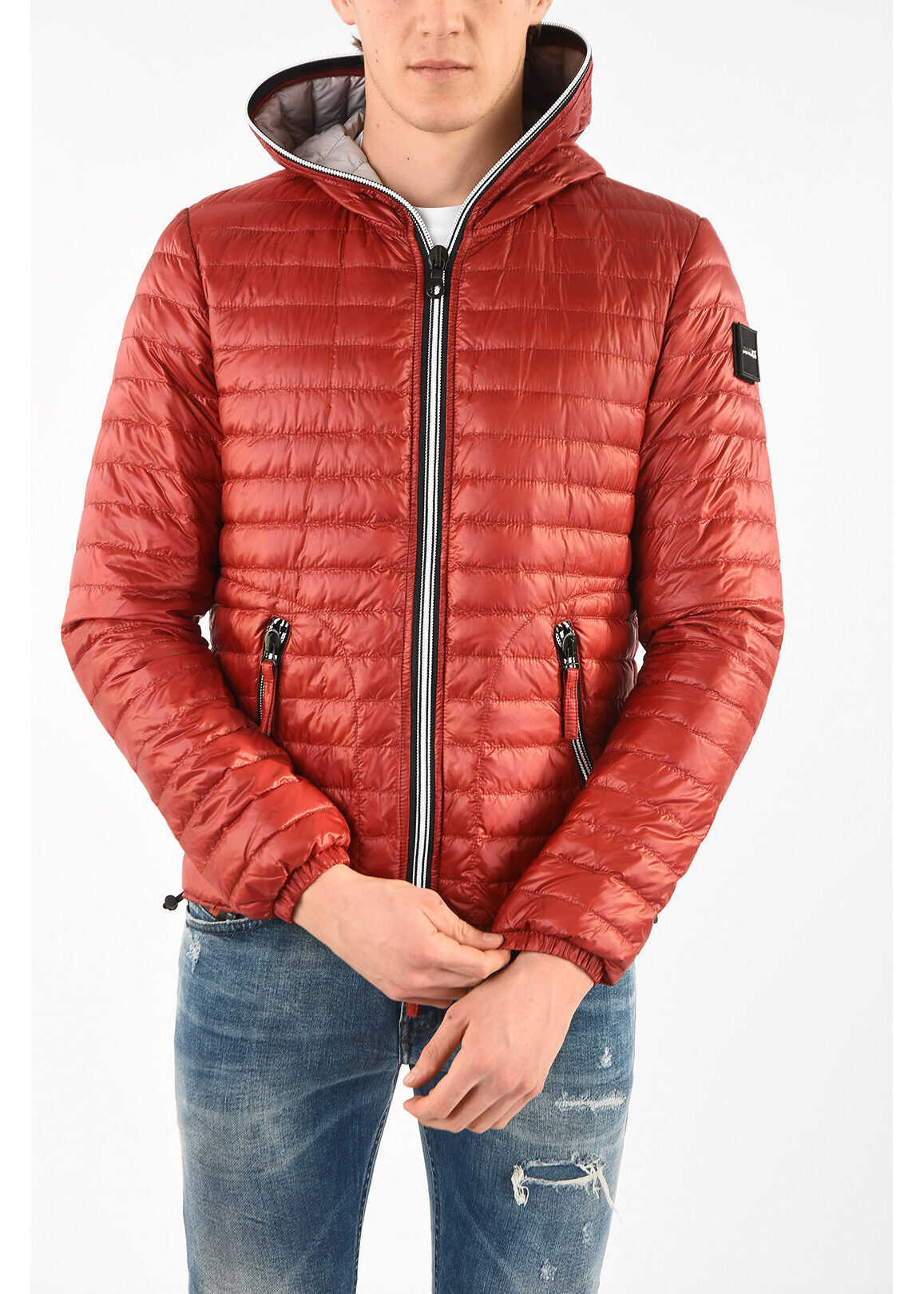 Duvetica Lightweight ACELOQUATTRO Down Jacket with Hood RED imagine