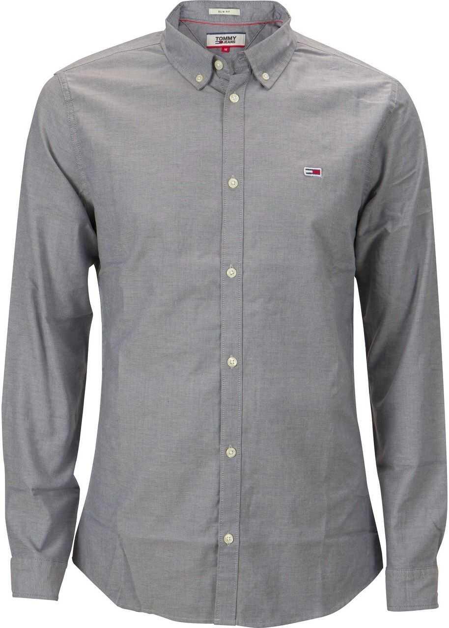 Tommy Hilfiger TJM Strech Oxford Shirt DM0DM06562 Grey imagine