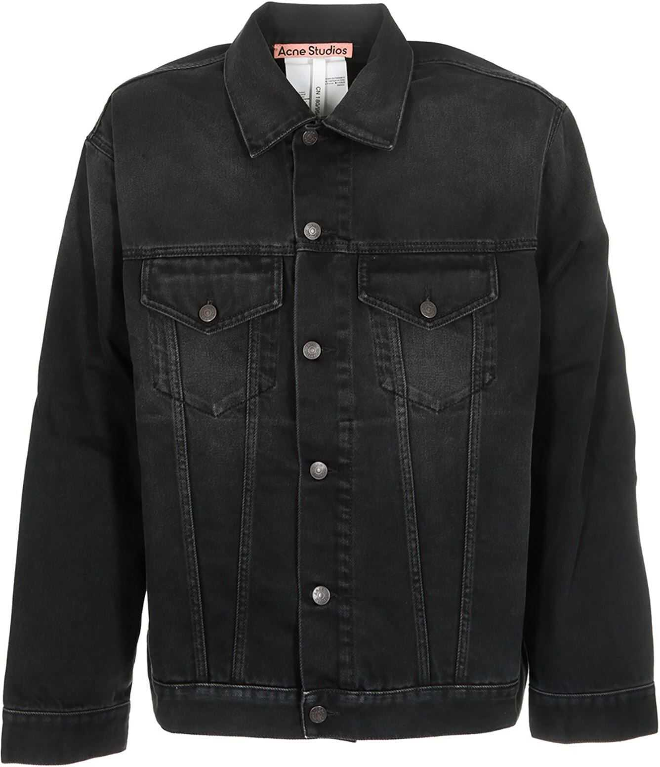 Acne Studios Denim Jacket In Washed Black Black imagine
