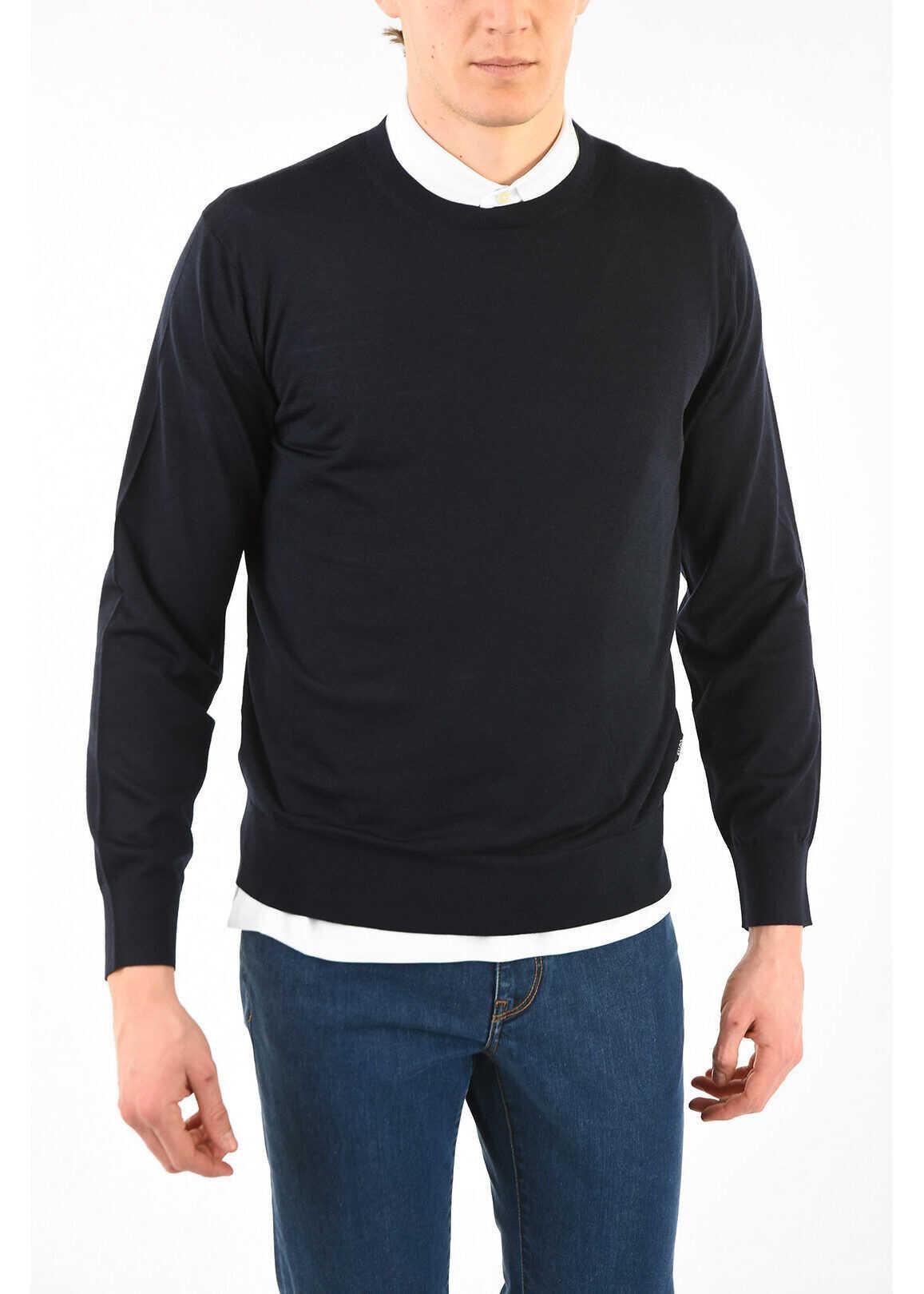 Ermenegildo Zegna Z ZEGNA Wool Crew-Neck Sweater BLUE imagine