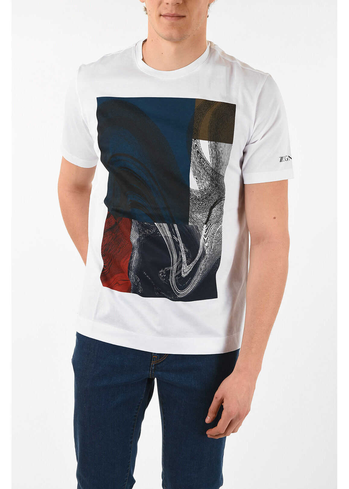 Z ZEGNA Printed Crew-Neck T-Shirt
