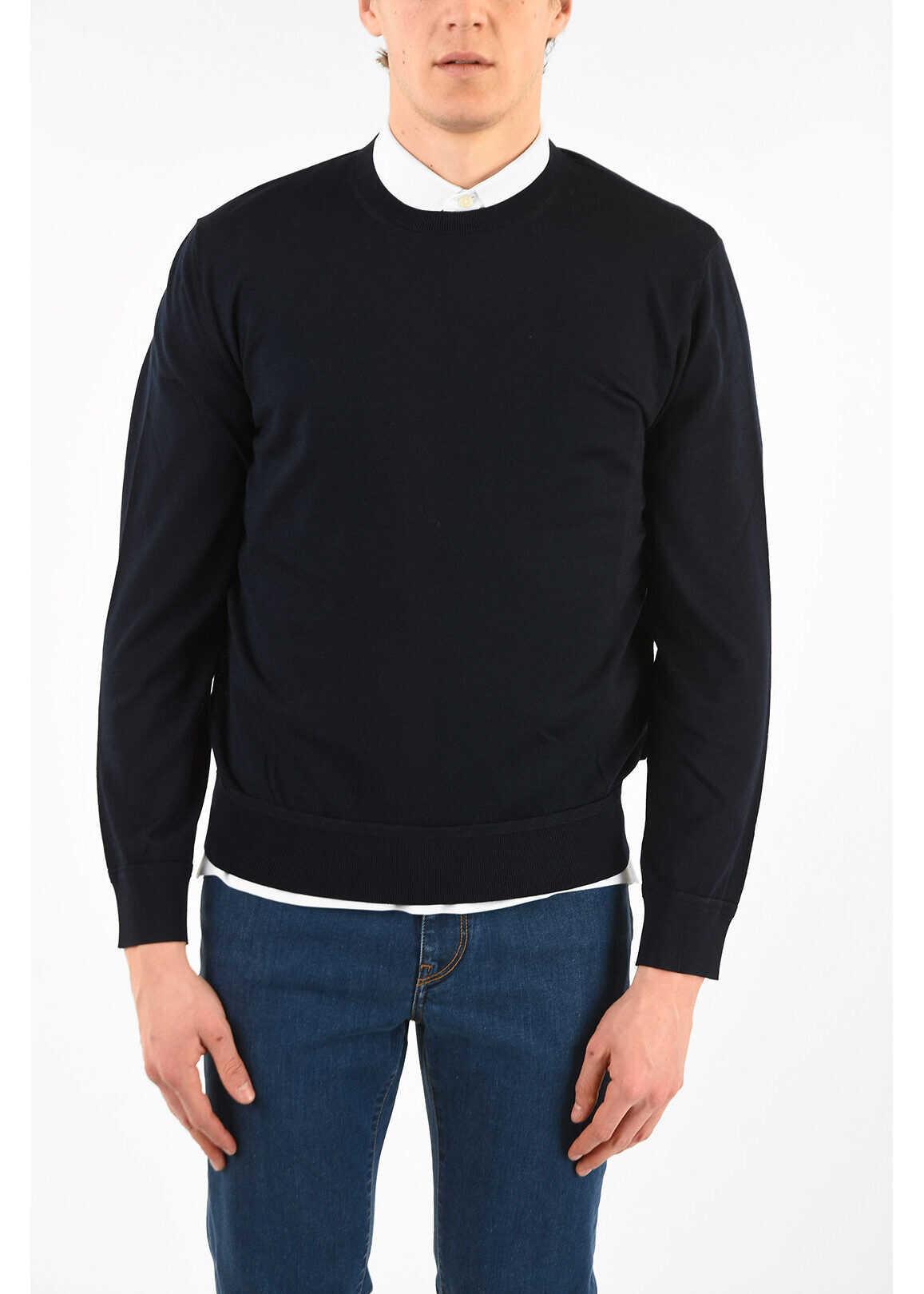 Ermenegildo Zegna Z ZEGNACotton Crew-Neck Sweater BLUE imagine
