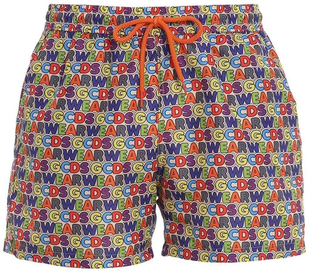 GCDS Multicolour Print Swim Shorts Multi imagine