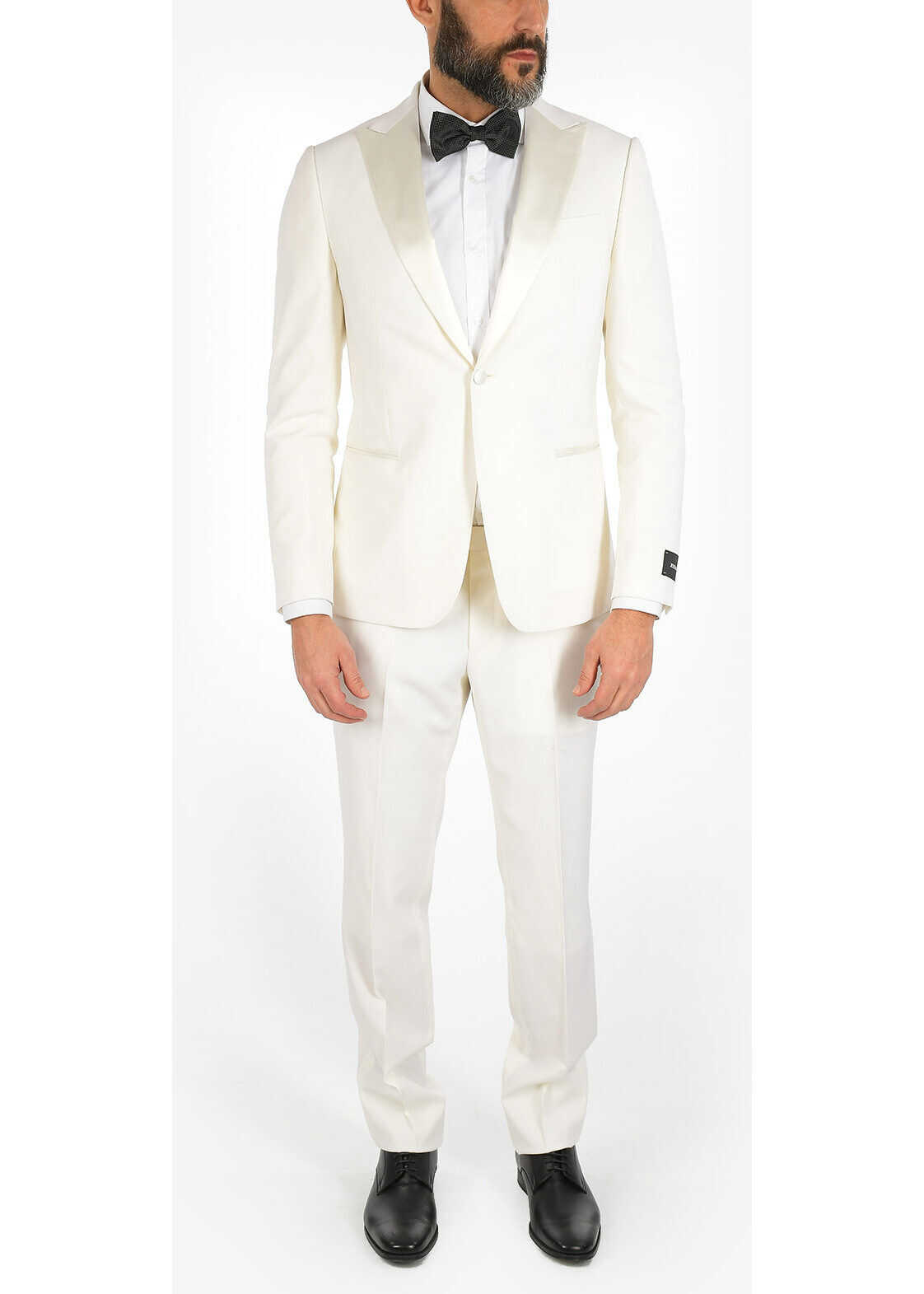 Z ZEGNA Wool 1 Button Suit with Peaked Lapel