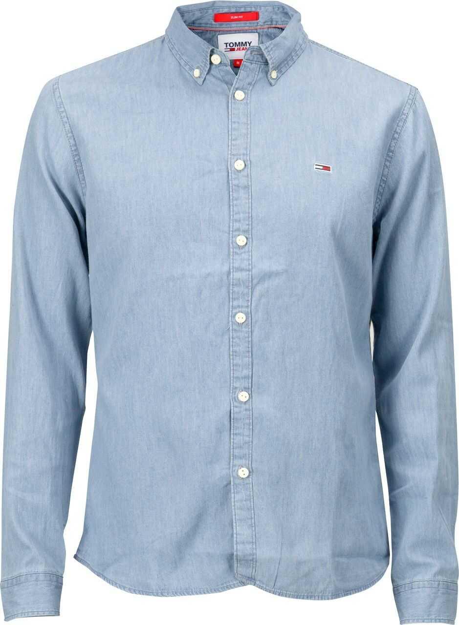 Tommy Hilfiger TJM Cotton Denim Shirt DM0DM06562 Light Blue imagine
