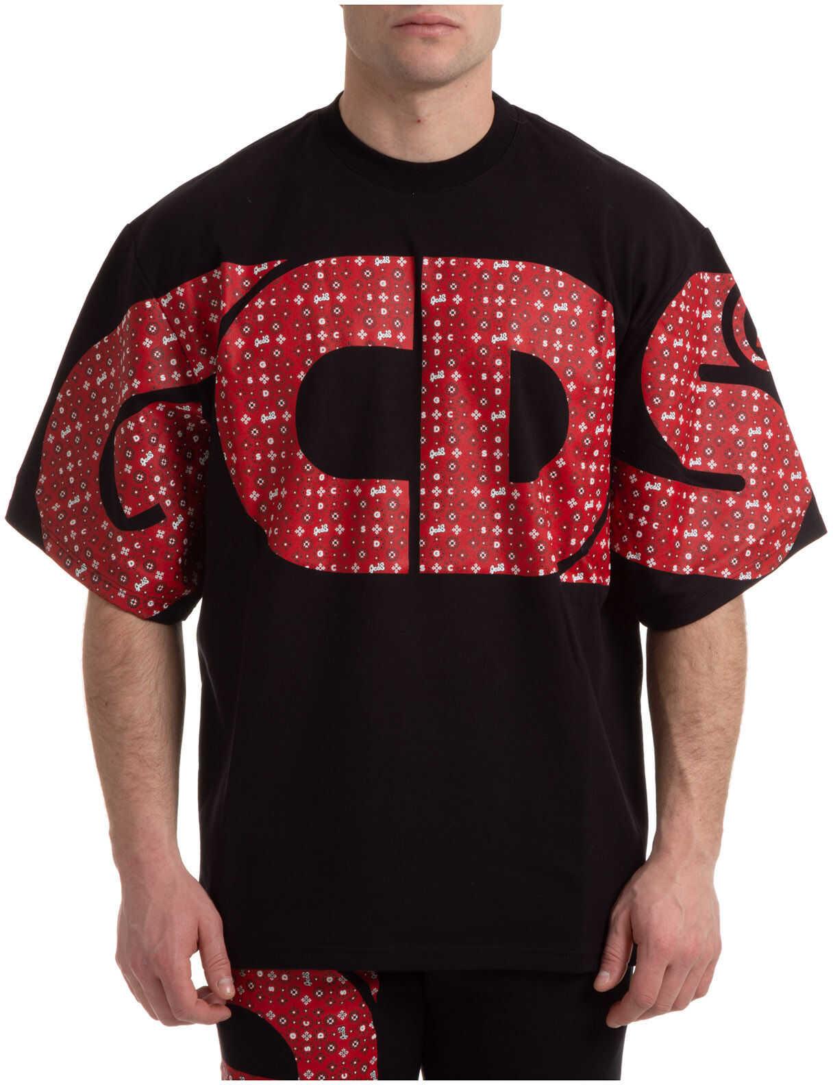 GCDS Macro Logo Black imagine