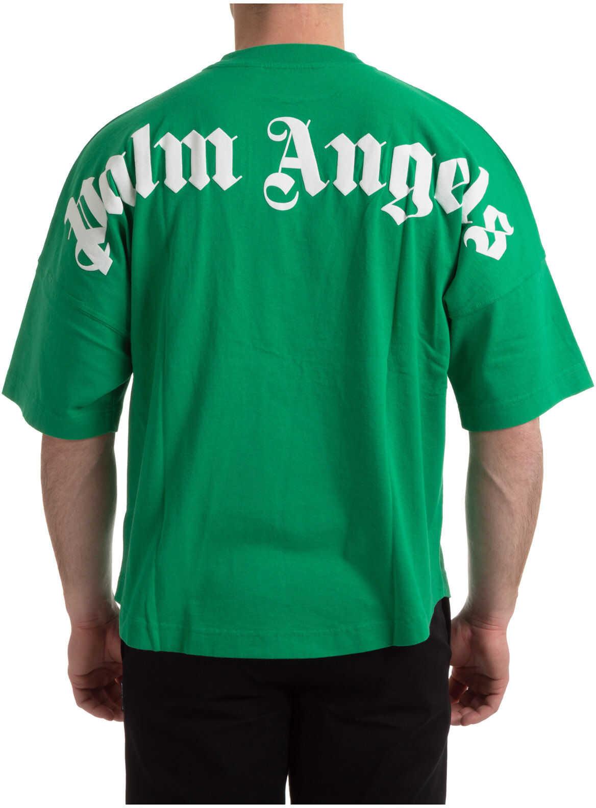 Palm Angels Classic Logo Green imagine