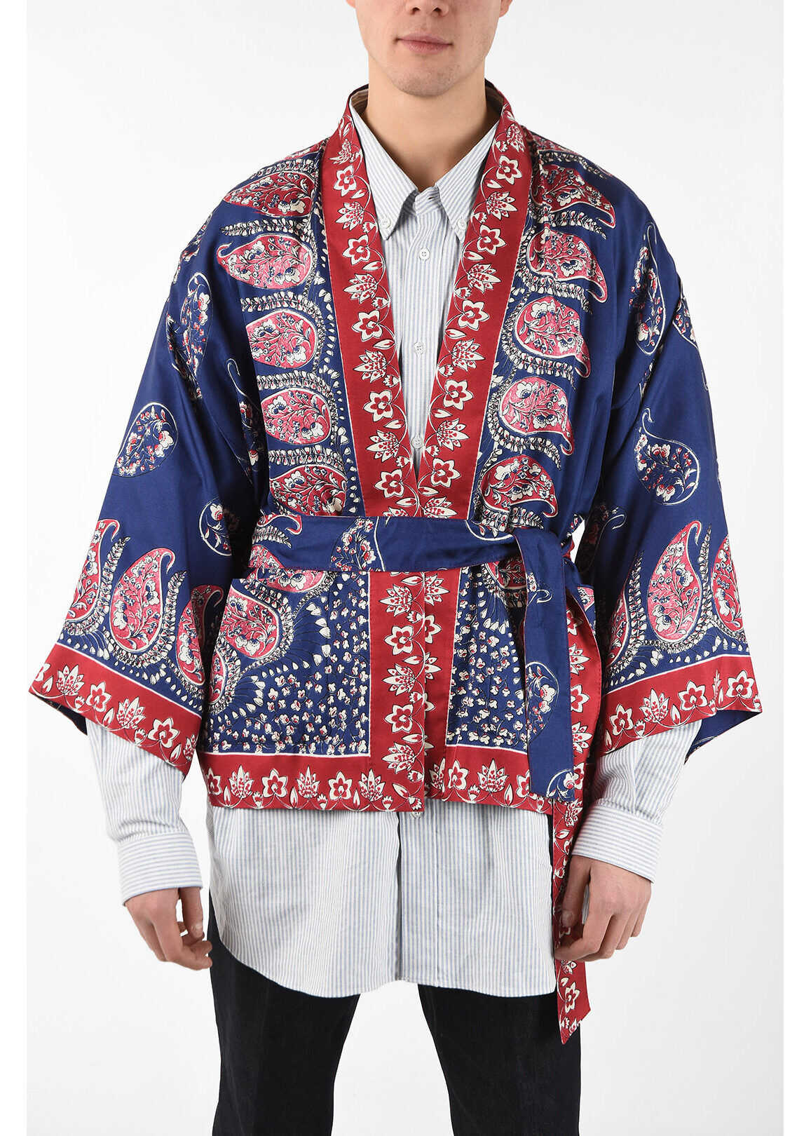 Gucci Silk Paisley Kimono MULTICOLOR imagine