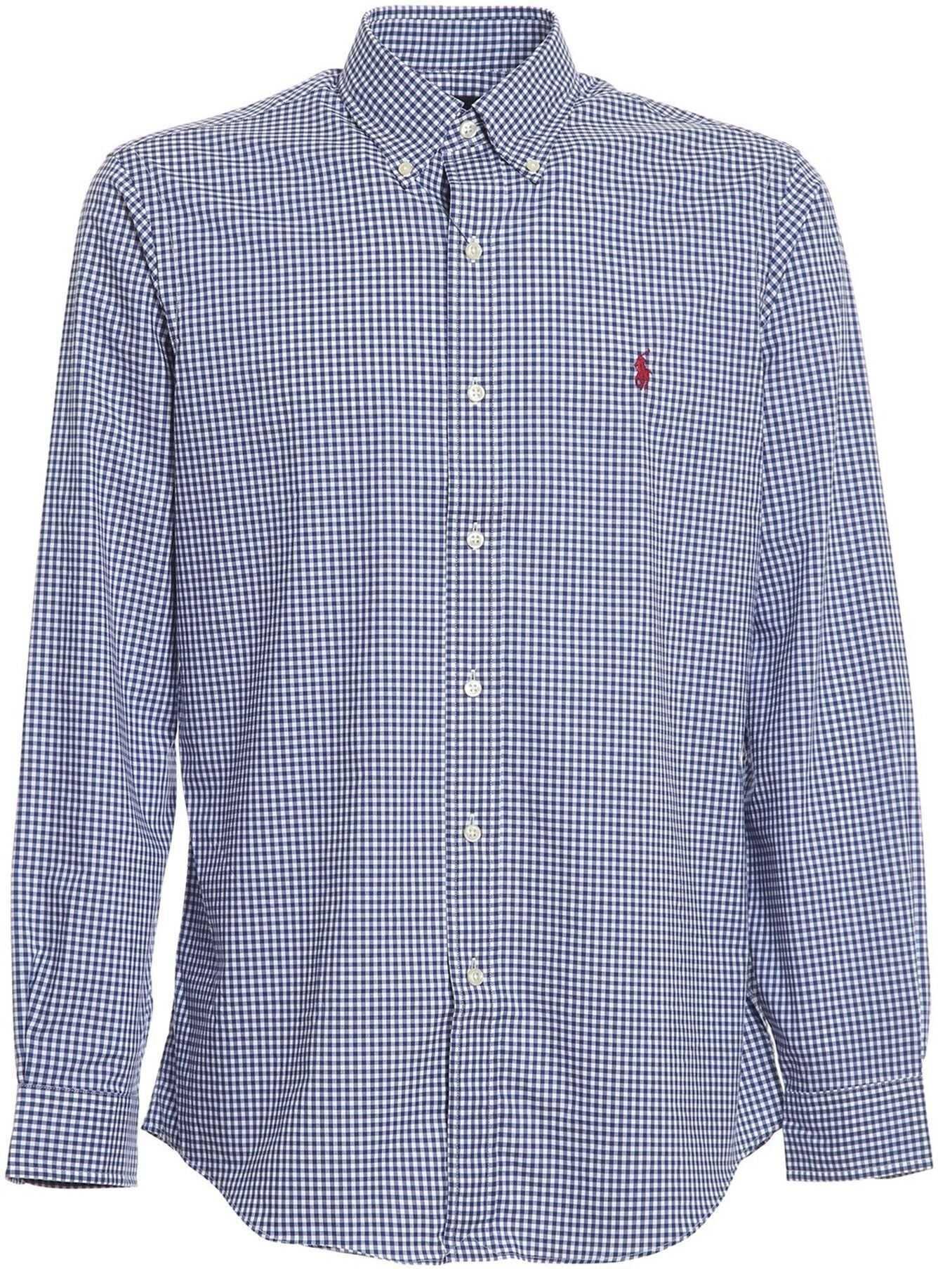 Ralph Lauren Vichy Pattern Shirt Blue imagine