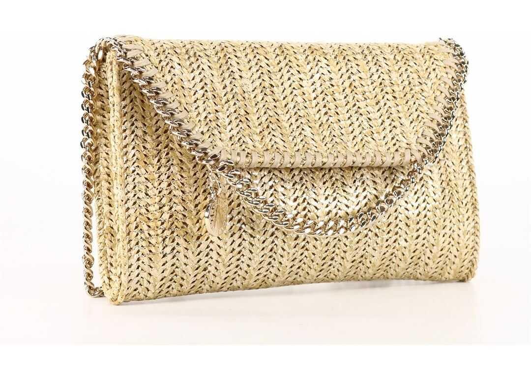 Stella McCartney Mini Falabella Bag Gold 581238 W8788 Beige imagine b-mall.ro