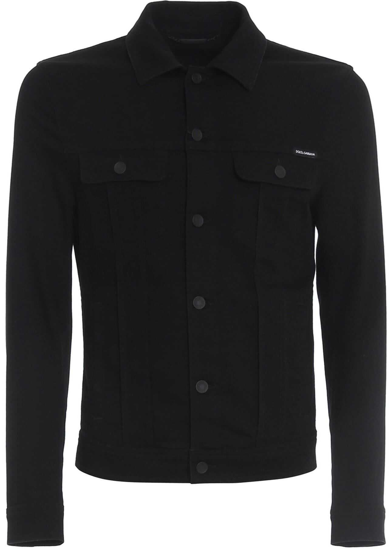 Dolce & Gabbana Black Stretch Denim Jacket Black imagine