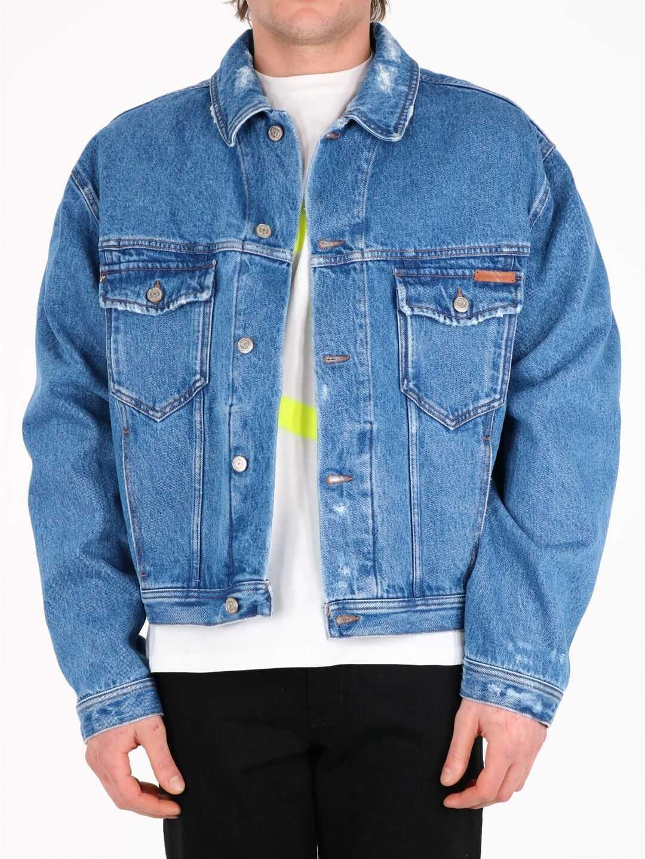 Golden Goose Star Denim Jacket Blue imagine