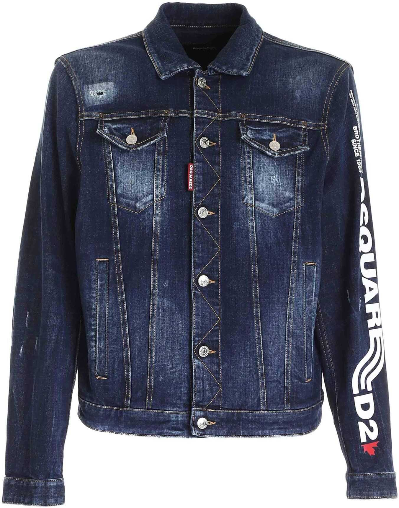 DSQUARED2 D2Line Dan Denim Jacket In Blue Blue imagine