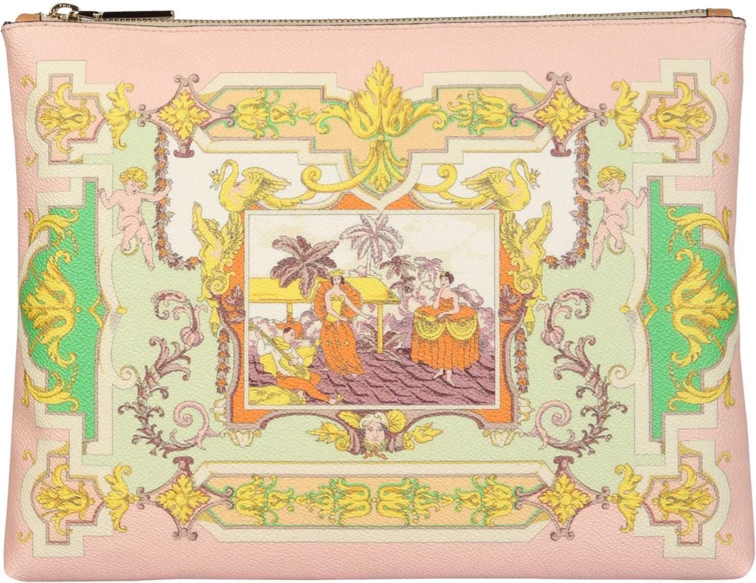 ETRO Coated Canvas Clutch 1E579_25190650 MULTICOLOUR imagine b-mall.ro