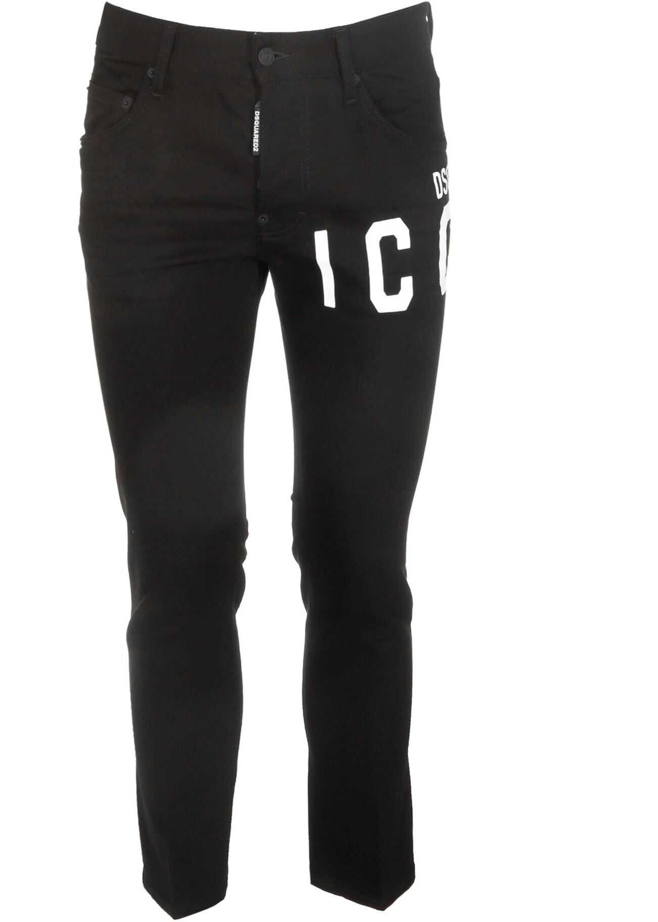 DSQUARED2 Skater Jeans Icon In Black Black imagine