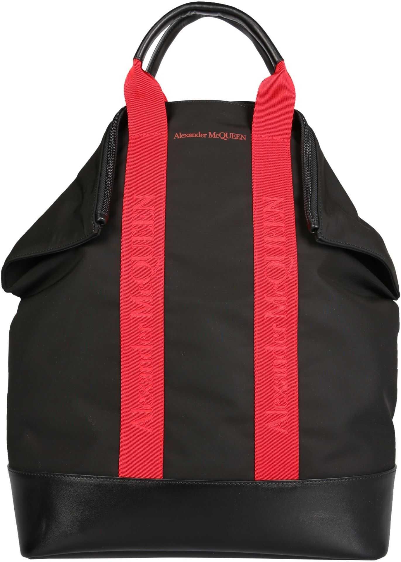 Alexander McQueen De Manta Backpack 548663_HUO2B1083 BLACK imagine b-mall.ro