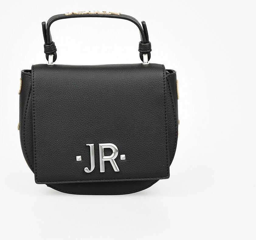 John Richmond Faux Leather Logo Embroidered NOIRA Bag BLACK imagine b-mall.ro