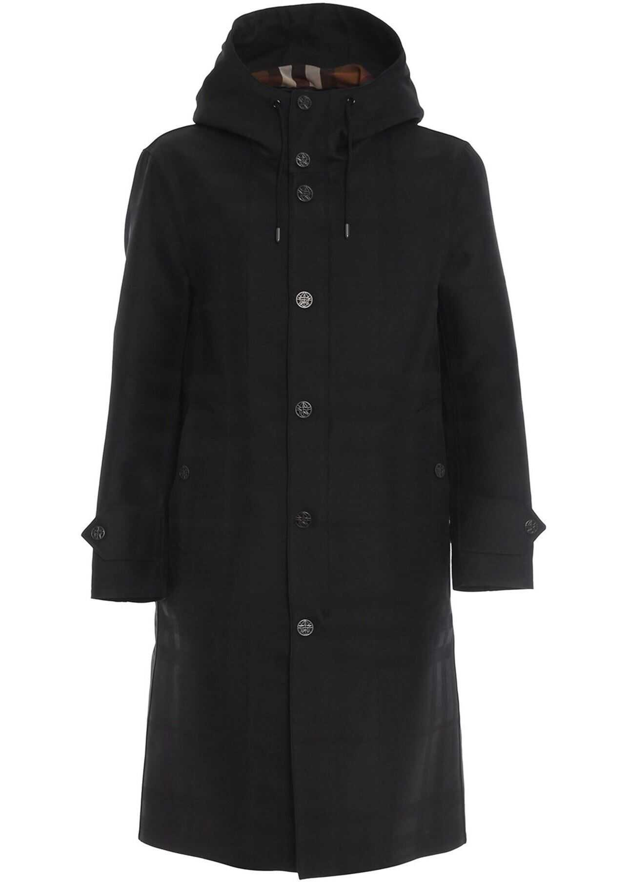 Burberry Witham Waxed Coat In Black Black imagine