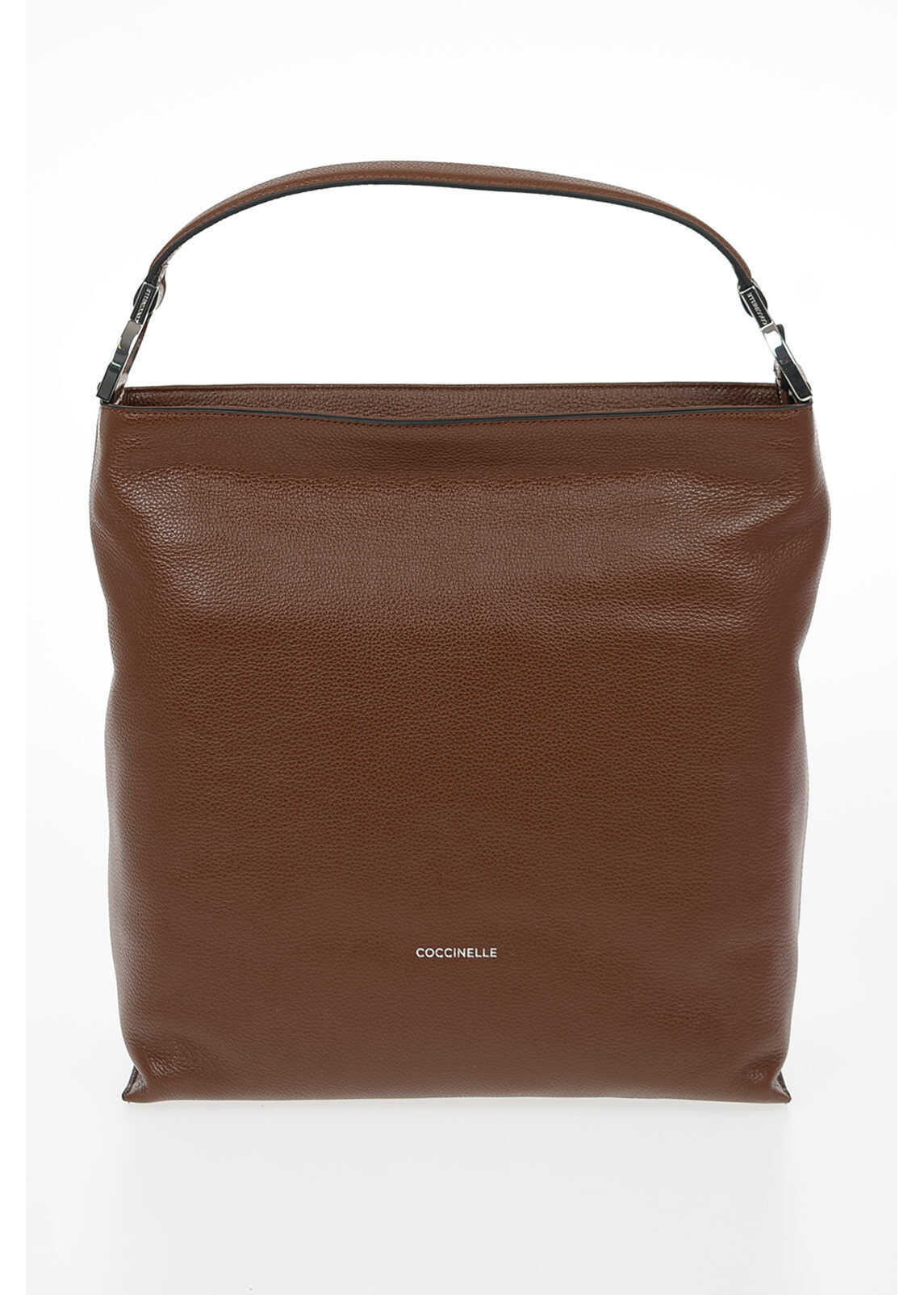 Coccinelle Leather KEYLA Bag BROWN imagine b-mall.ro