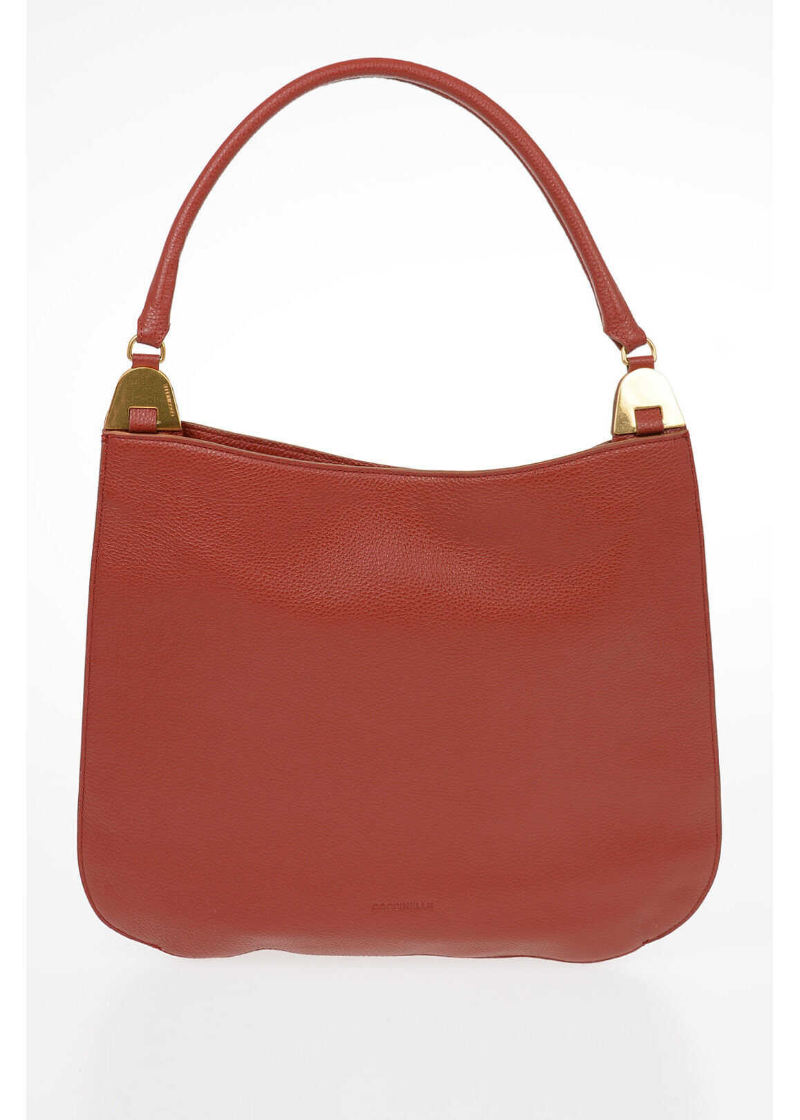 Coccinelle Leather ANAIS Hand Bag RED imagine b-mall.ro