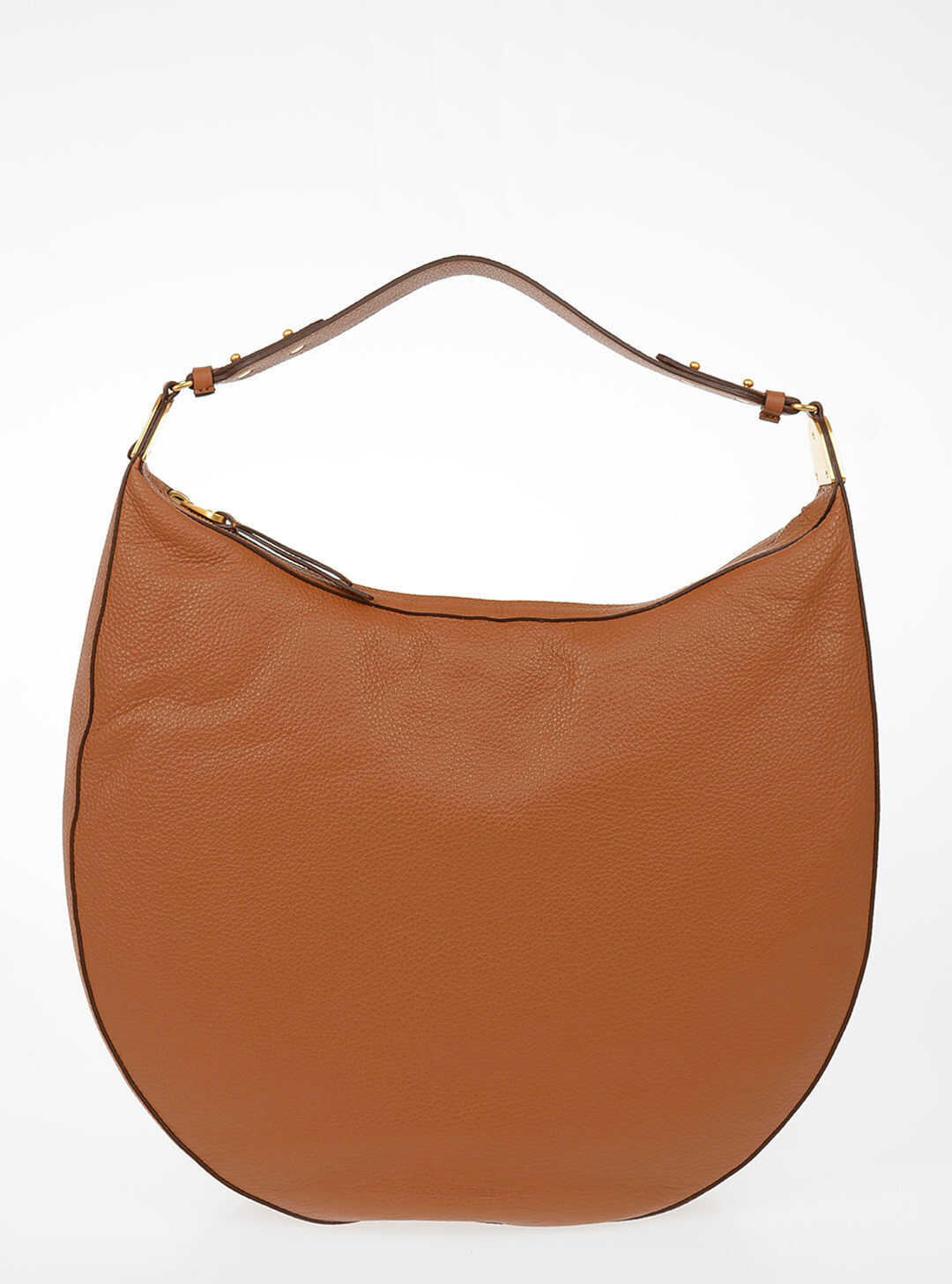 Coccinelle Leather ANAIS Hobo Bag BROWN imagine b-mall.ro