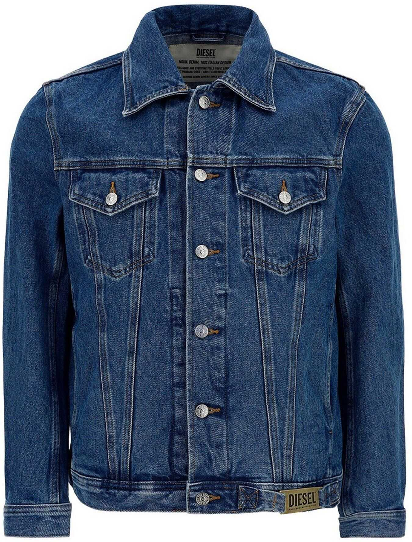 Diesel Denim Nhill-C1 Jacket In Blue Blue imagine