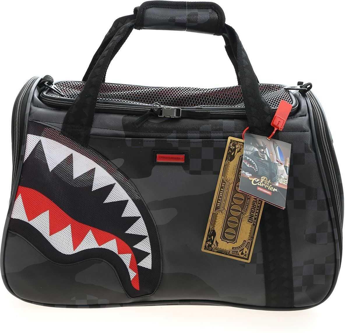Sprayground 3Am Pet Carrier Bag In Grey And Black 910Z279NSZ Grey imagine b-mall.ro