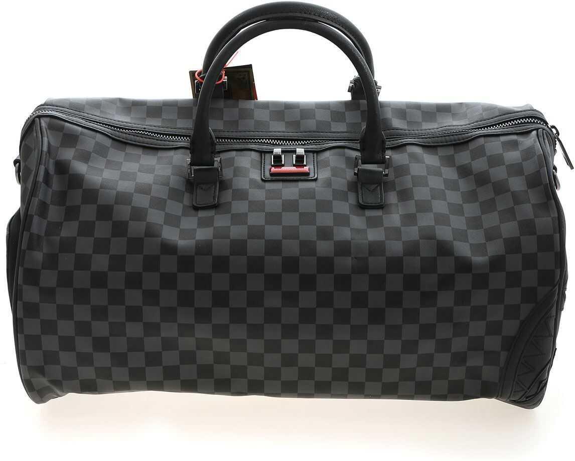 Sprayground Henny Duffle Bag In Black And Grey 910D3427NSZ Black imagine b-mall.ro