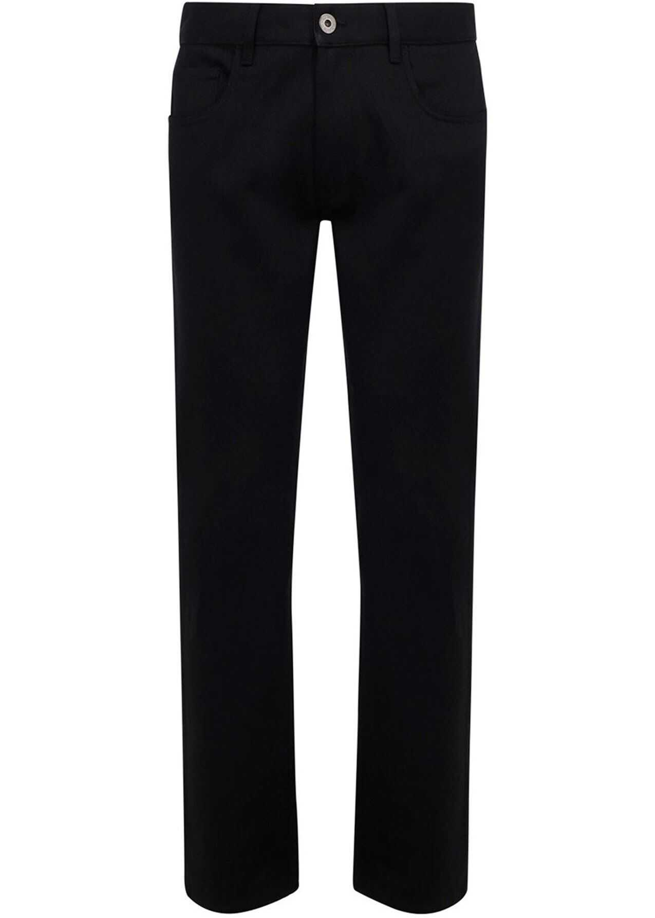 Prada Stretch Denim Jeans In Black Black imagine