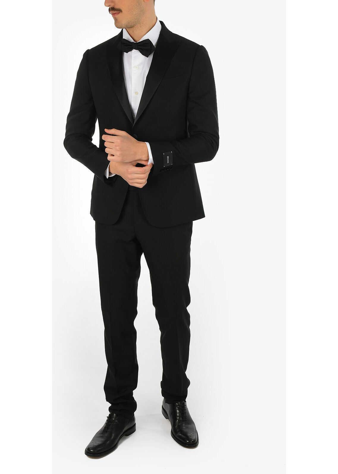 ZZEGNA Peak Lapel 1 Button Tuxedo Suit