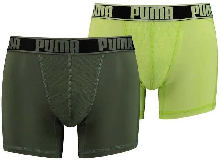 PUMA Active Grizzly Melange Boxers 2 Pack 906950 Green imagine