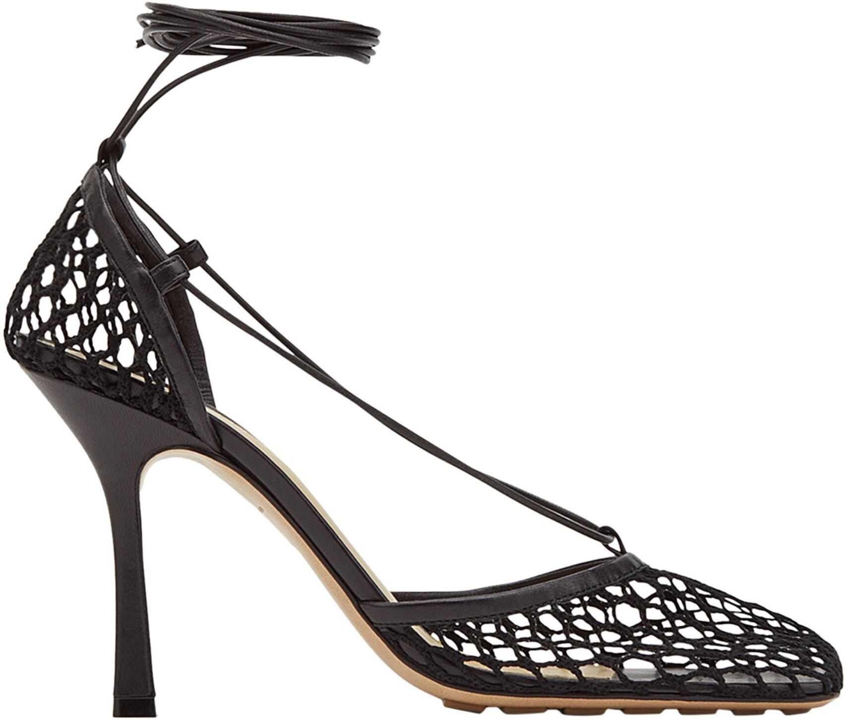 Bottega Veneta Stretch Sandals 651388_VBSD31000 BLACK imagine b-mall.ro