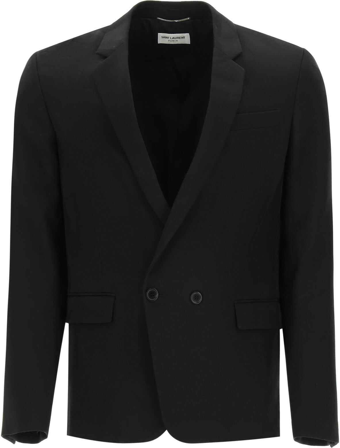 Saint Laurent Jungle Wool Jacquard Blazer BLACK imagine