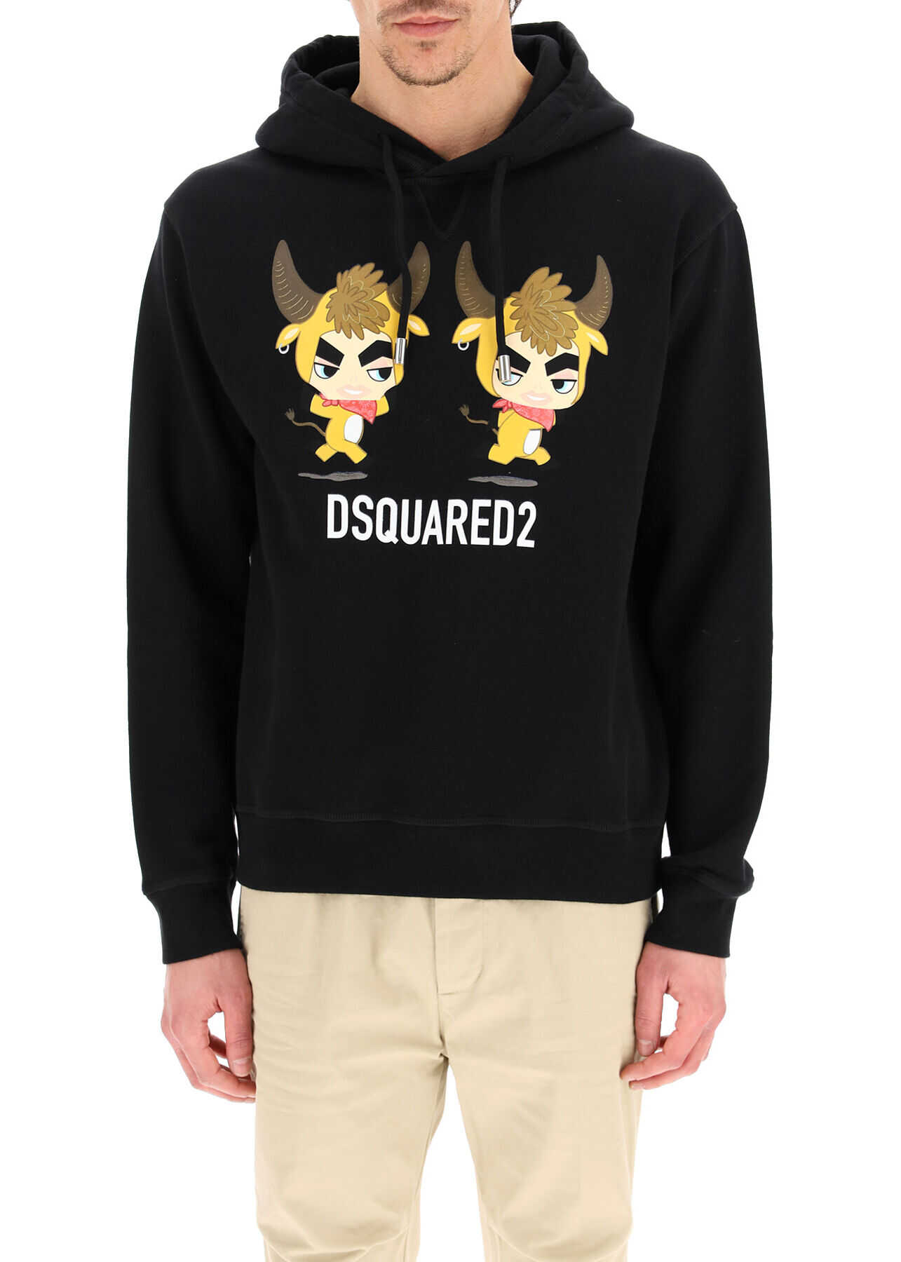 DSQUARED2 Year Of The Ox Print Hoodie BLACK imagine