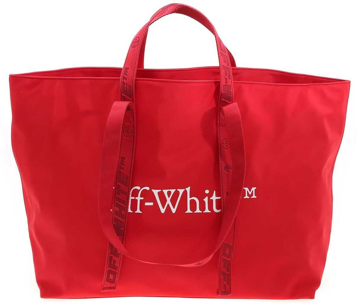 Off-White Commercial Tote Bag In Red OWNA094R21FAB0012501 Red imagine b-mall.ro