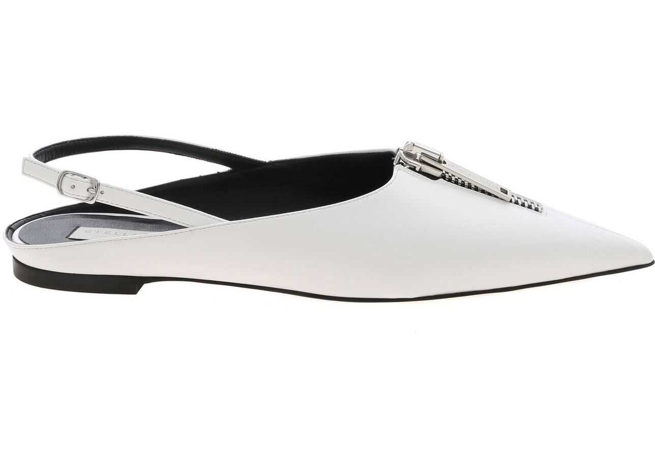 Zipit Pointed Mules In White