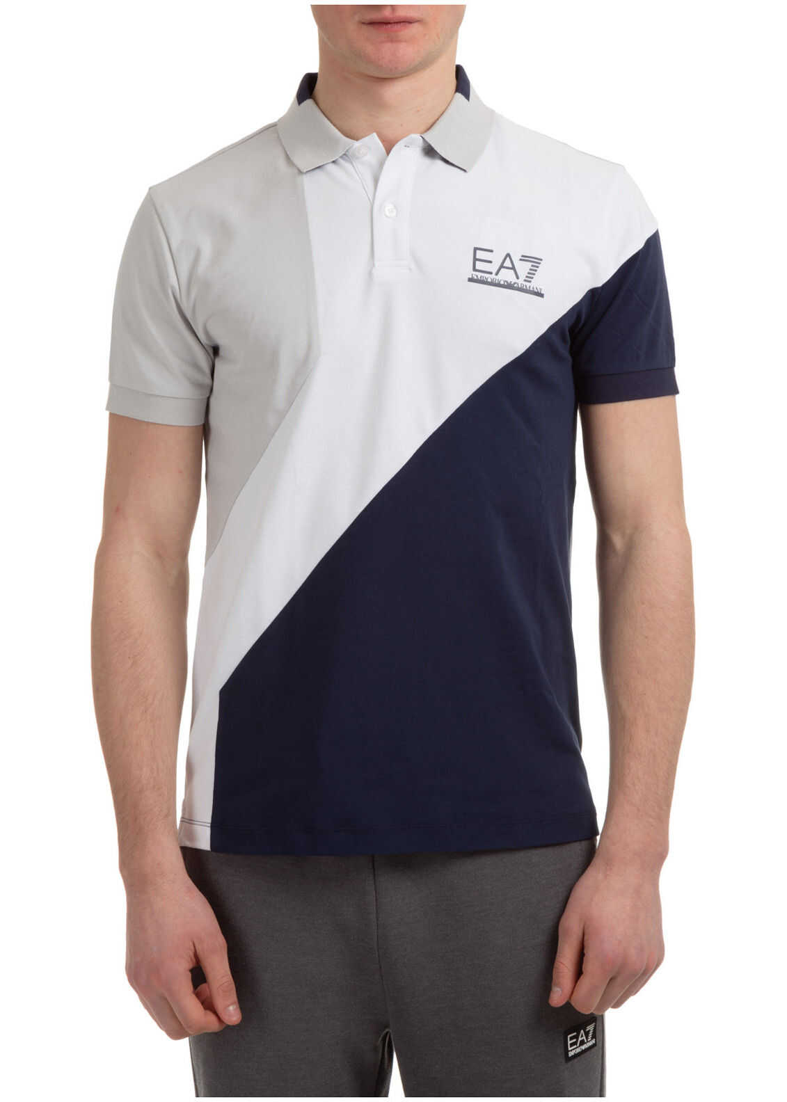 EA7 Polo Collar White imagine