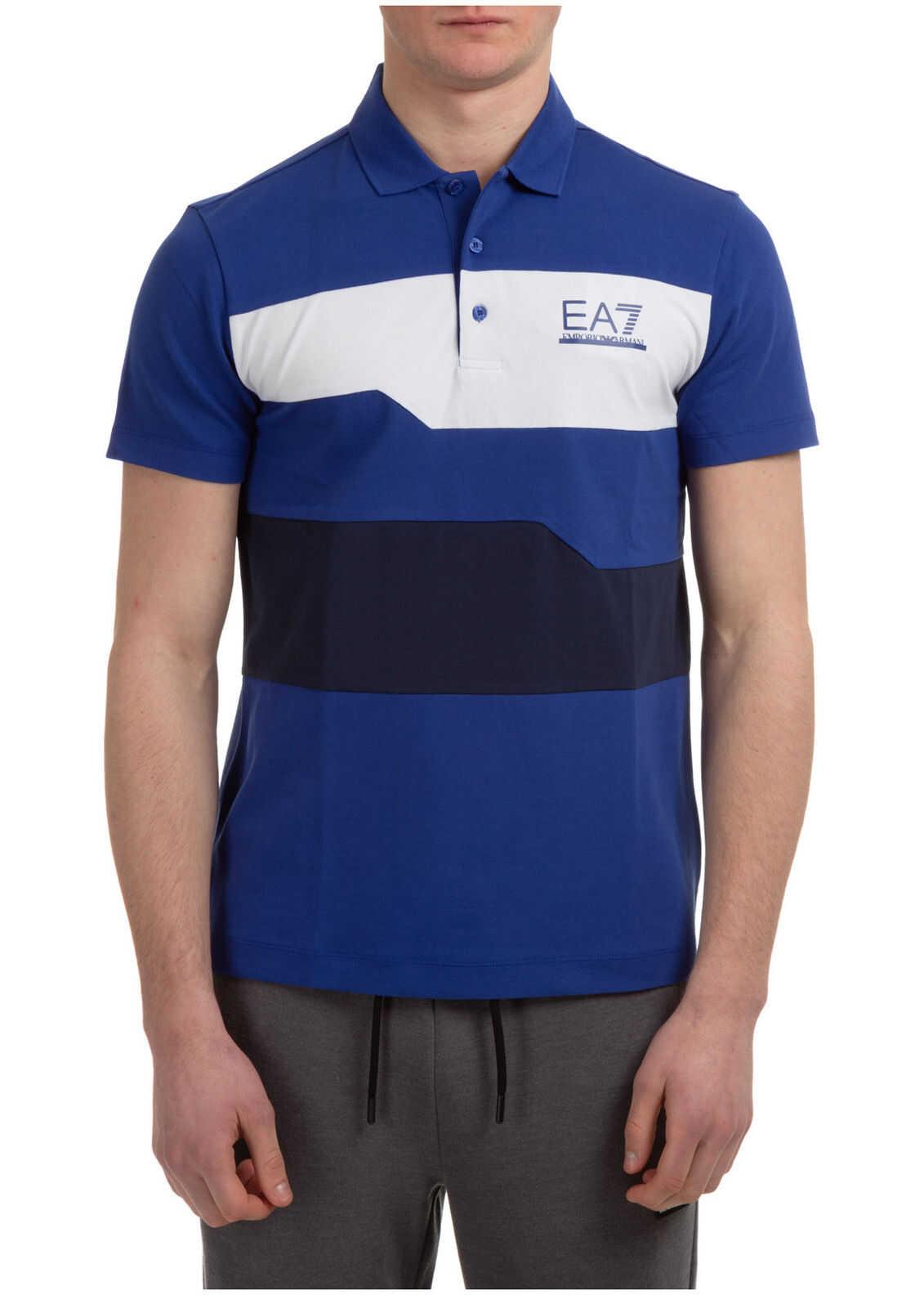 EA7 Polo Collar Blue imagine
