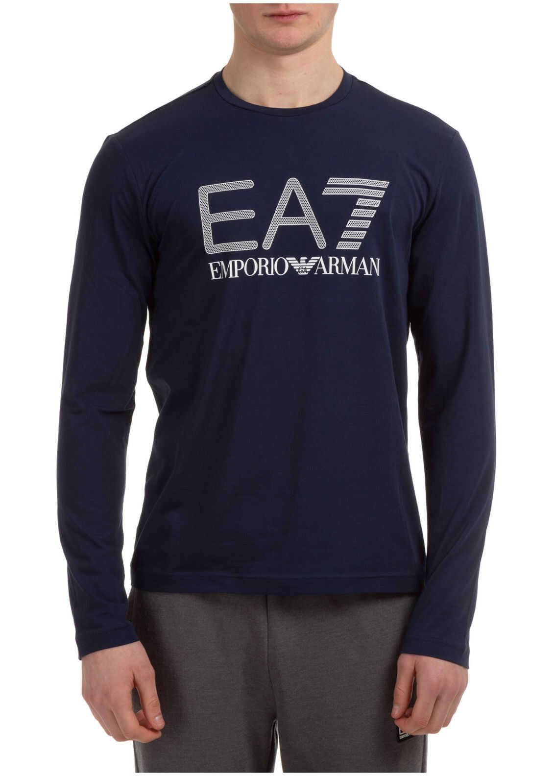 EA7 Crew Neckline Blue imagine