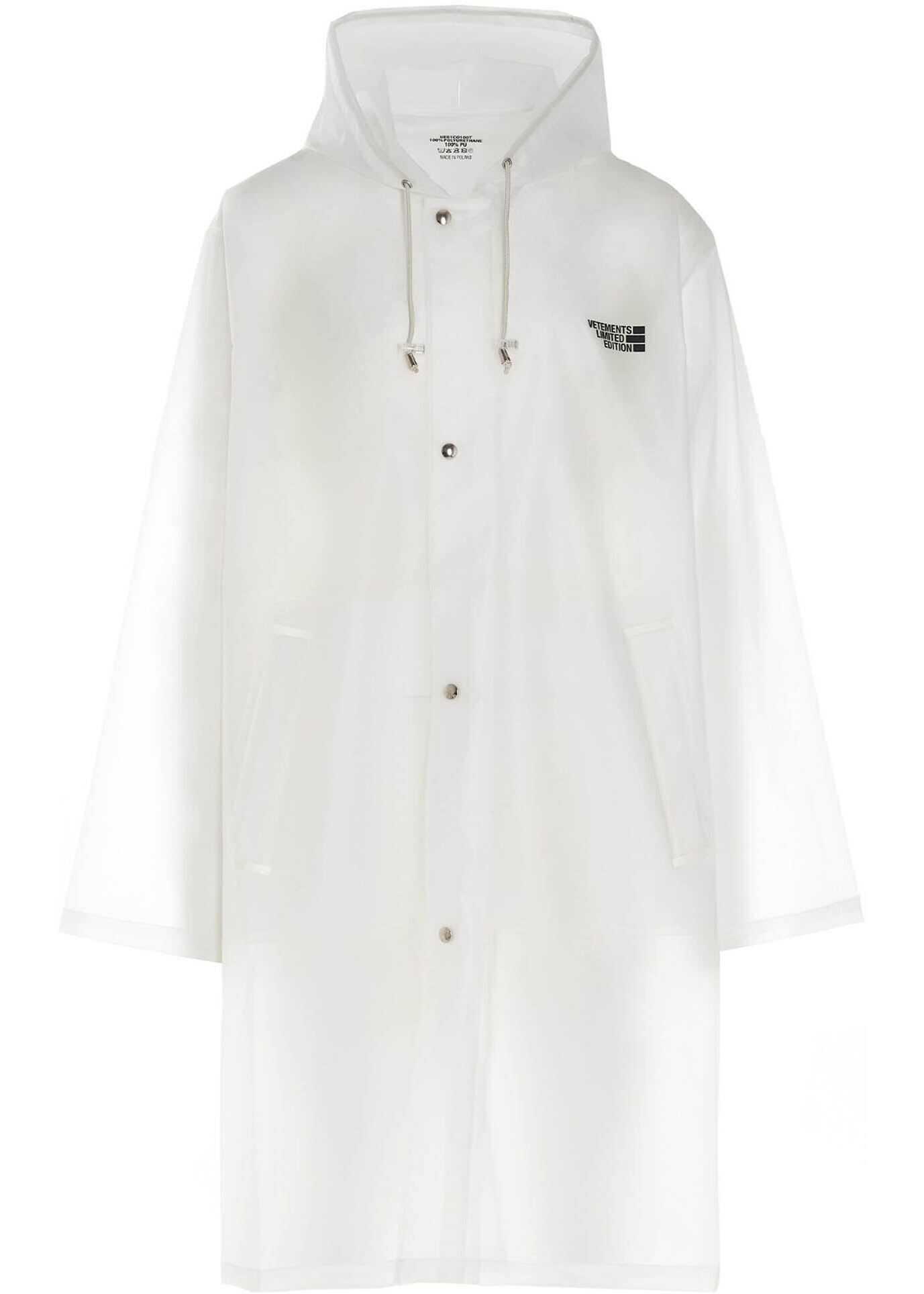 Vetements Limited Edition Transparent Raincoat Transparent imagine