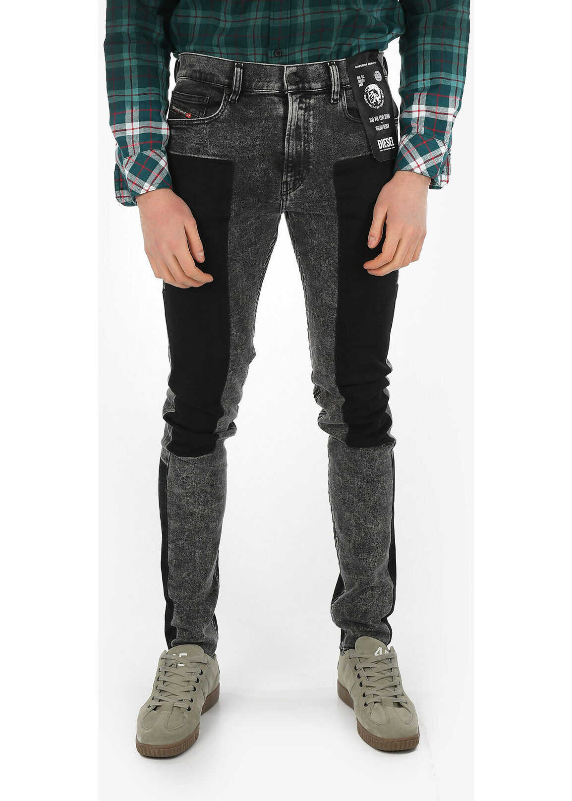 Diesel 14cm Skinny Fit D-AMNY-BK-SP Jeans L34 GRAY imagine