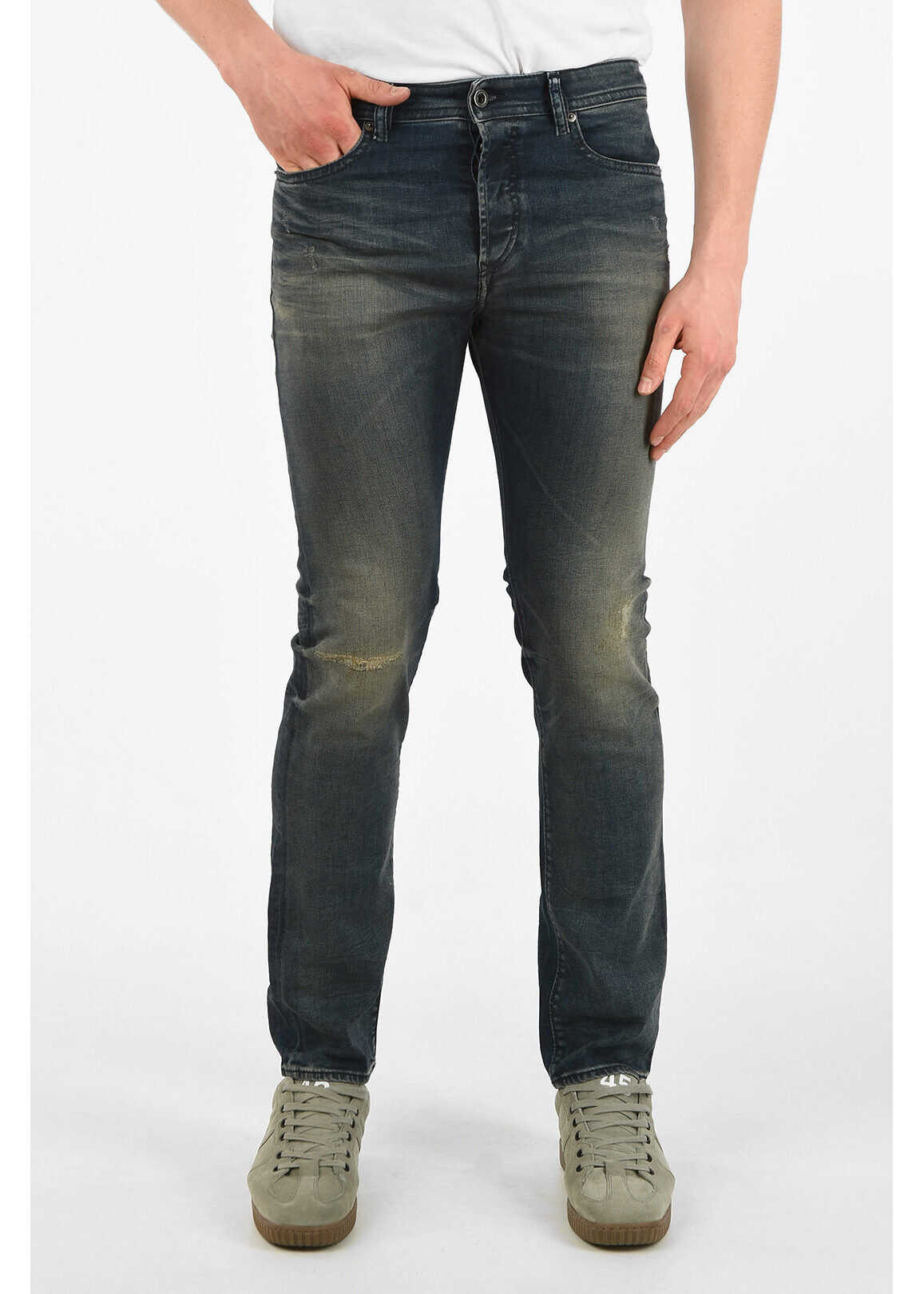 Diesel 16cm Stonewashed BUSTER Jeans L32 BLUE imagine
