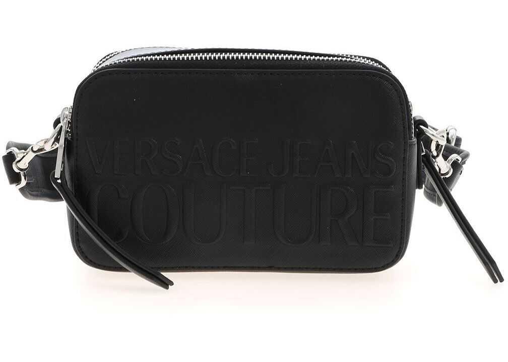 Versace Jeans Couture Embossed Logo Bag In Black E1VWABR371882899 Black imagine b-mall.ro