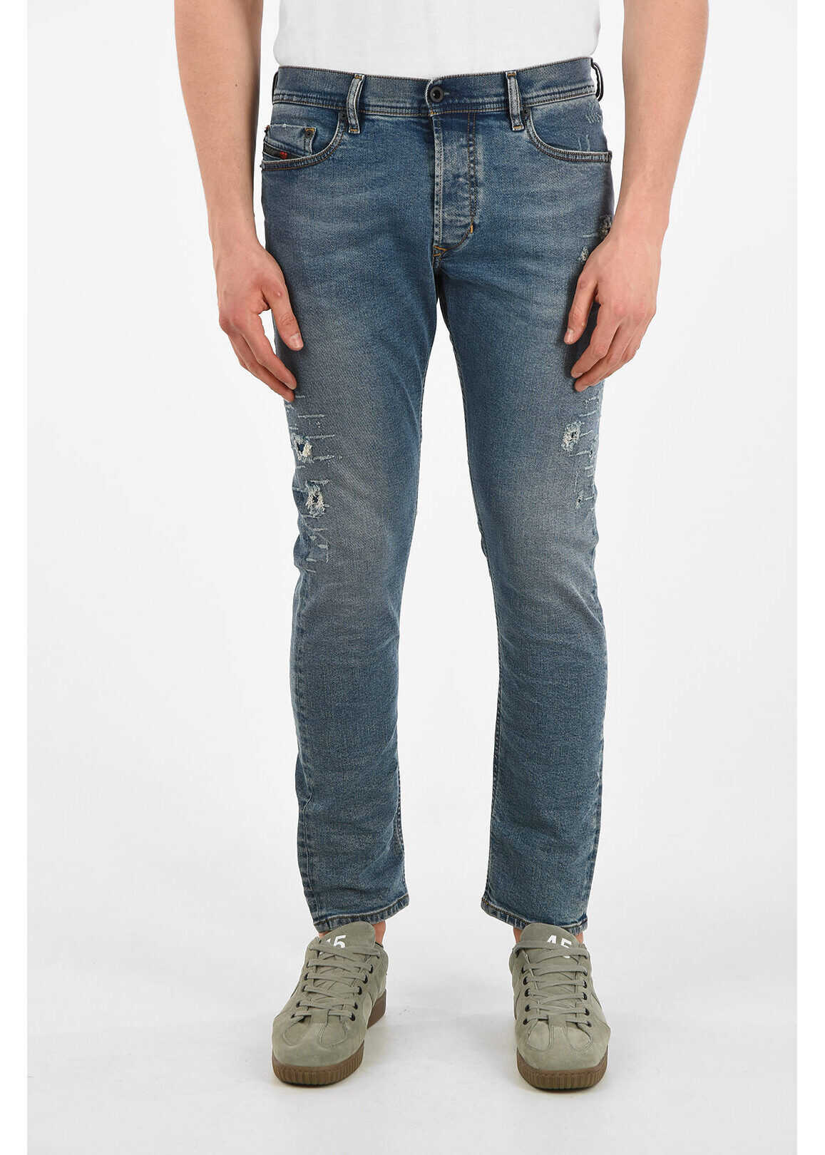 Diesel 16cm Vintage Effect TEPPHAR Jeans L30 BLUE imagine