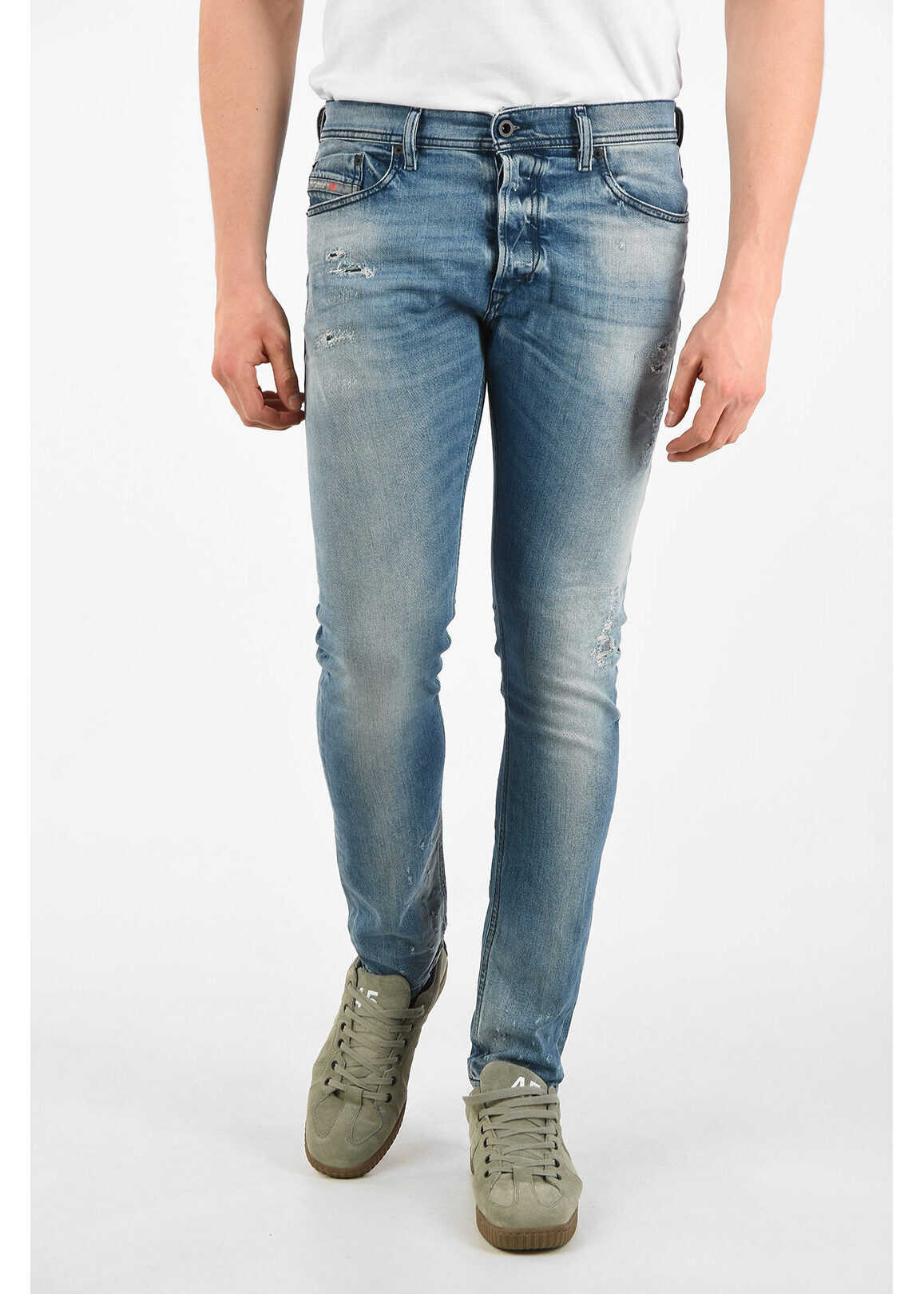 Diesel 15cm Slim Fit TEPPHAR Jeans L32 BLUE imagine