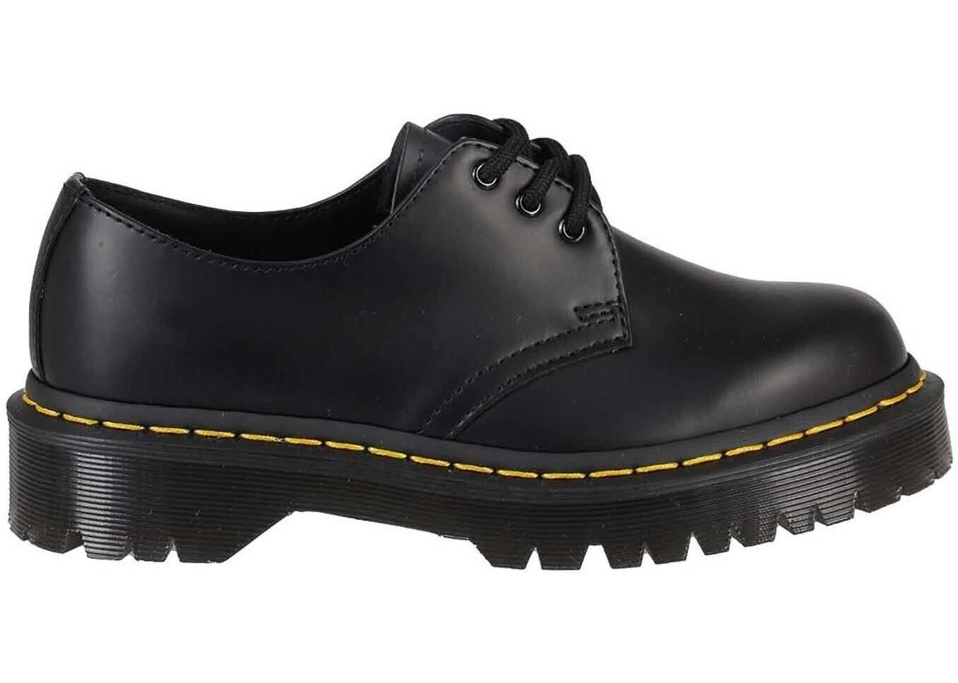 Dr. Martens 1461 Bex Smooth Lace-Ups In Black 21084001 Black imagine b-mall.ro