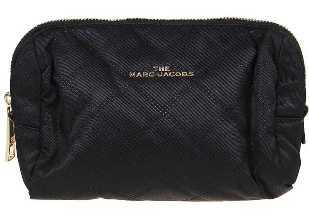 Marc Jacobs Triangle Nylon Quilted Pouch In Black M0016520001 Black imagine b-mall.ro