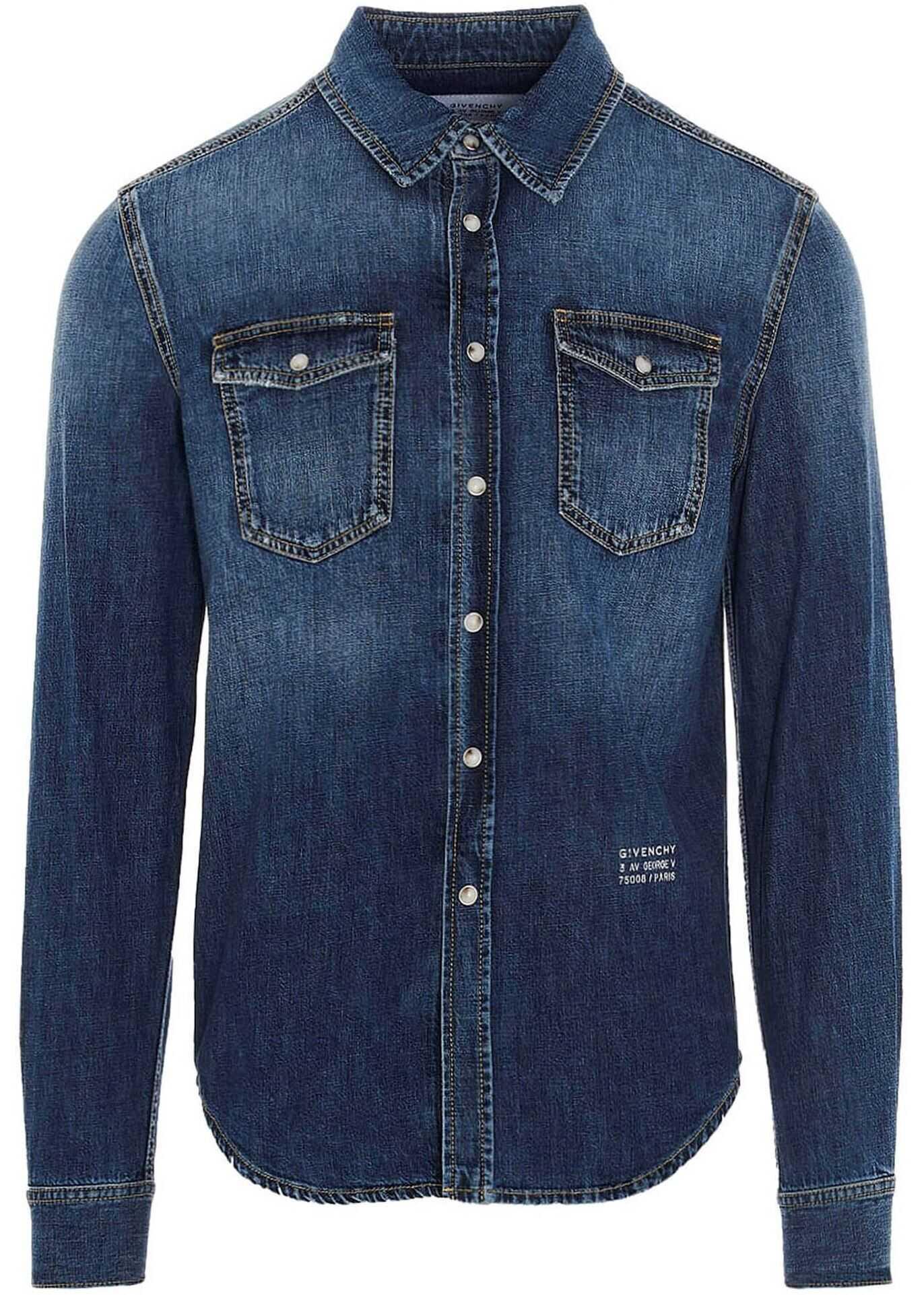 Givenchy Denim Shirt In Blue Blue imagine