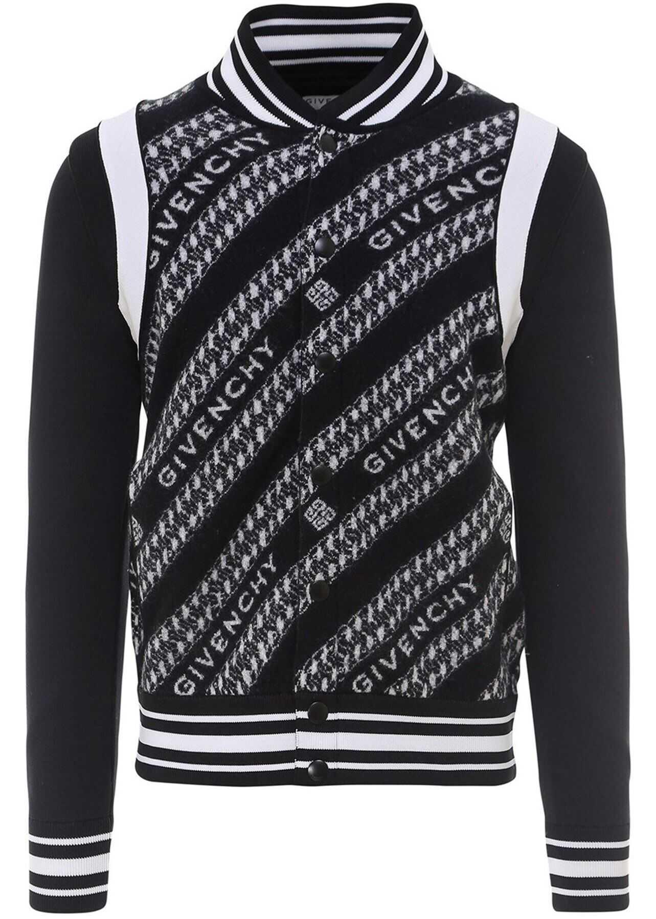 Givenchy Chaîne Bomber Jacket In Black Black imagine